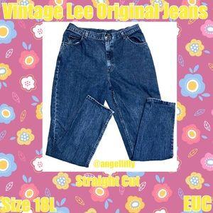 Vintage Lee Original Straight Cut Jeans EUC